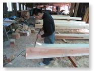 大工の熟練の技